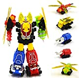 Mallya 5 in 1 Insect Change into Fighter Action Figure Toy Playset