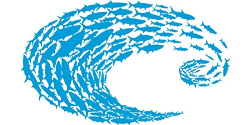 Costa Del Mar Logo Schoolin Blue Decal-Large