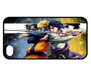 Treasure Design Naruto & Sasuke Funny Iphone 4/4s Durable Silicone Cover Case