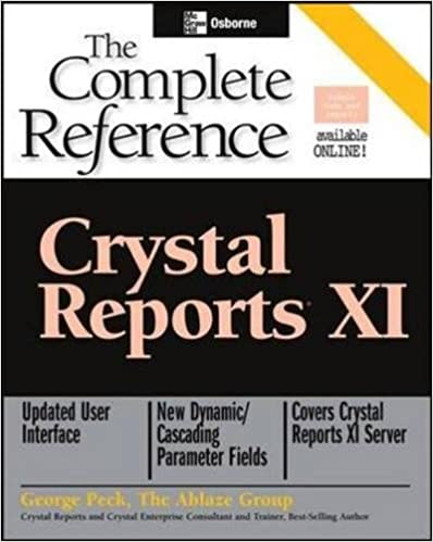 Crystal reports xi the complete reference osborne complete crystal reports xi the complete reference osborne complete reference series 9780072262469 computer science books amazon fandeluxe Gallery