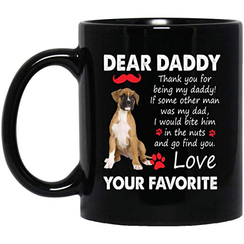 (Thank you For Being My Daddy Boxer Coffee Mug Dog Lover Gifts)