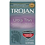 Trojan Condom Sensitivity Ultra Thin Spermicidal, 12 Count