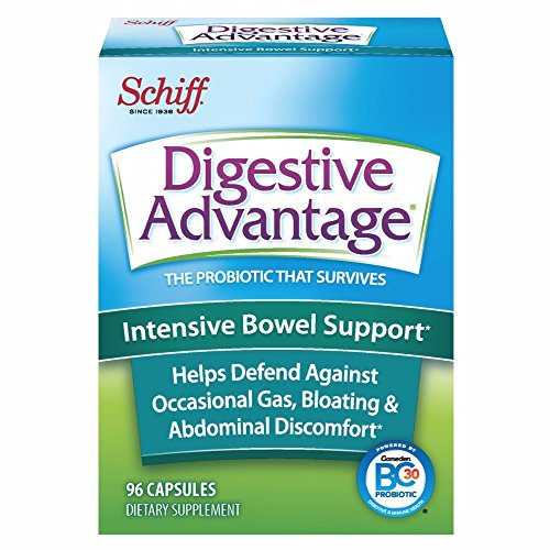 Digestive Advantage Intensive Bowel Support Probiotic Capsules, 96 ct (Pack of 4) by Schiff