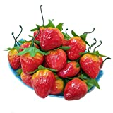 30pcs Artificial Lifelike Simulation Small Red Strawberries Set Decoration Fake Fruit Home House Kitchen Décor