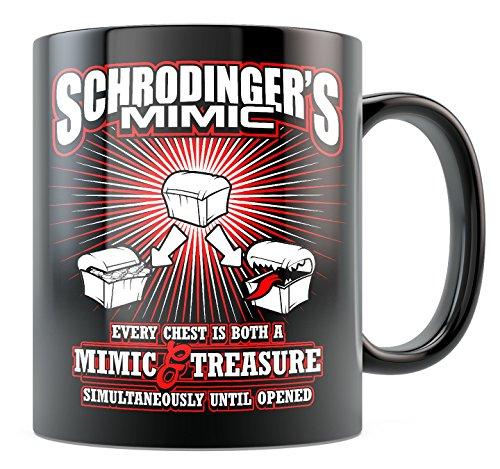 DnD Mug - Schrodinger's Mimic - 11oz Black Ceramic