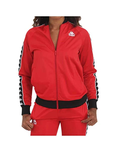 Kappa Chaqueta ASBER Jacket 914 Red Dark Black (XS): Amazon ...