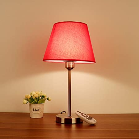 LEBAO-table lamp Lámpara de Mesa Lámpara de Escritorio - Rojo ...