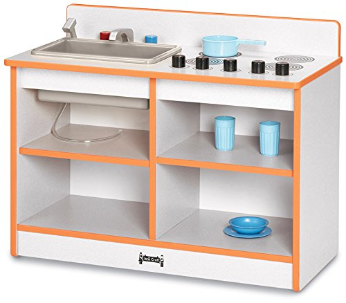 Rainbow Accents 0673JCWW003 Toddler 2-In-1 Kitchen, Blue
