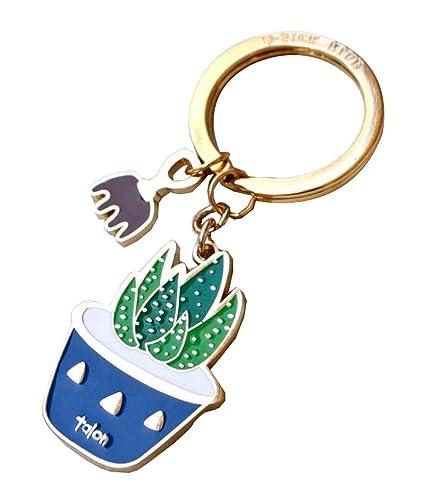 Anillo de llavero - Plantas suculentas: Amazon.es: Oficina y ...
