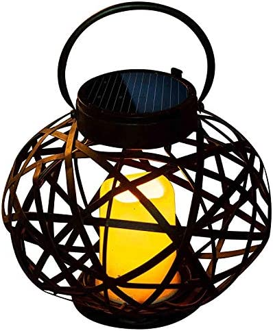 Oval Lantern Centerpieces for Wedding Table Hanging Lamp Walkway Lights Solar Powered Garden Led Table Lamp Rechargeable Lantern Metal Faroles Patio Accessories and Decor