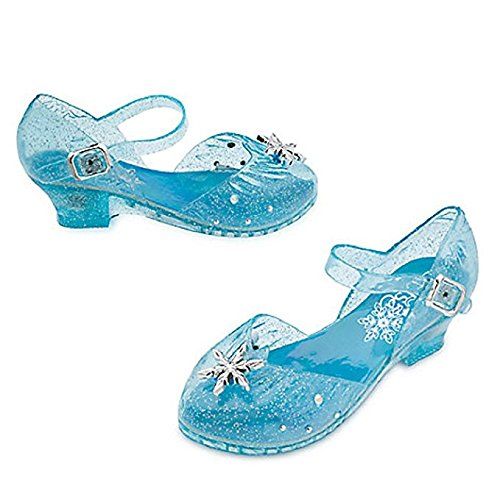 DISNEY STORE FROZEN ELSA LIGHT UP COSTUME SHOES SNOWFLAKES ~ 2016 (7/8)