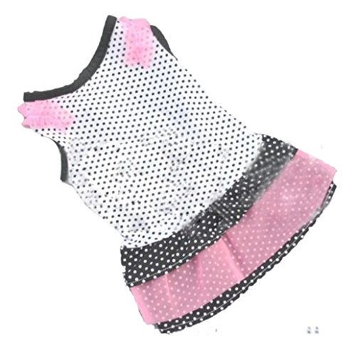 [Small-Size Dog Dress, HP95(TM) Summer Puppy Dog Princess Dress Clothes, Cute Teddy Dog Cat Tutu Dress, Small Dog Dot Skirt Pet Dog Dress (B, S] (Cute Puppies Costumes)