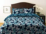 City Scene Floral Twlight Collection Celadon Duvet Set, King