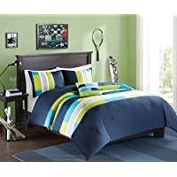 Comfort Spaces – Pierre Comforter Set - 3 Piece – Dark...