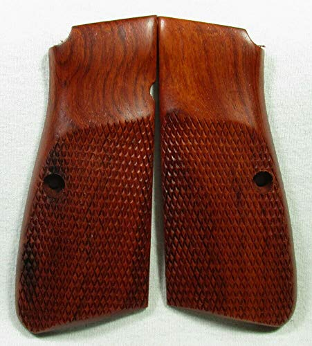(Smooth Industries New Wood Checkered Grips for Browning Hi-Power High)