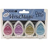 Tsukineko VersaMagic Dew Drop Inkpad of All Kinds, 4-Pack, Jewel Box