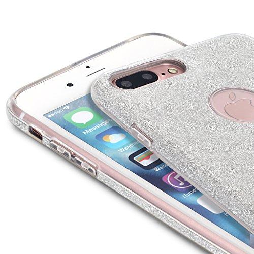 "Silber (Funkeln) SGSELLER TPU Slim Fit Ultra Dünn Stoßfest Anti-Kratz Anti-Fingerabdruck Funkeln Schutzhülle Gehäuse, Plastik, iPhone 7 Plus (5.5"")"