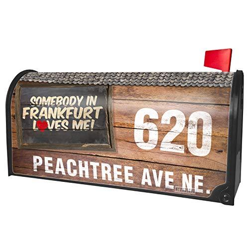 NEONBLOND Custom Mailbox Cover Somebody in Frankfurt Loves me, Germany -