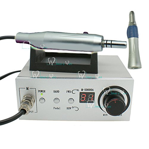 - Dental Technician Electrical Brushless Motor Micro Motor & Control Box Polishing 50000rpm Plus Straight Nose Cone