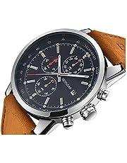 Montre de Luxe à Cadran décontracté Classique pour Hommes de BERSIGAR avec chronographe analogique et Quartz