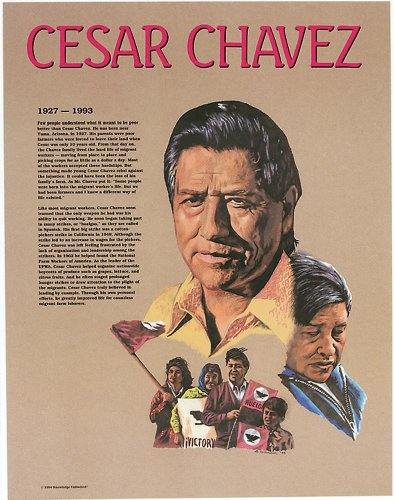 Knowledge Unlimited Inc Cesar Chavez Hispanic Heritage Poster