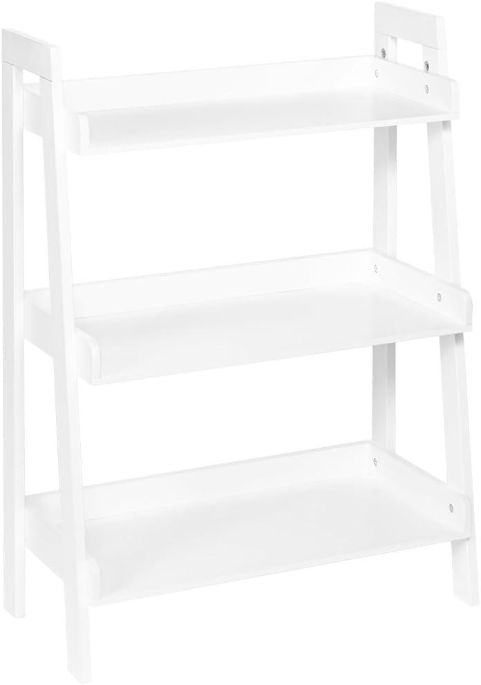 RiverRidge 3-Tier Ladder Shelf for Kids, White: Home & Kitchen