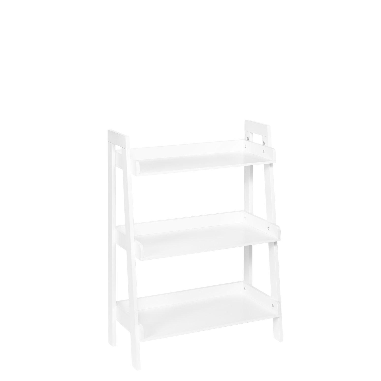 RiverRidge 3-Tier Ladder Shelf for Kids, White