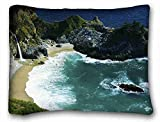 Custom Characteristic ( Nature Beaches landscapes nature beach sea waterfalls Nature Beaches ) Standard Size Pillowcase for Hair & Facial Beauty Size 20x26 Inches suitable for Full-bed