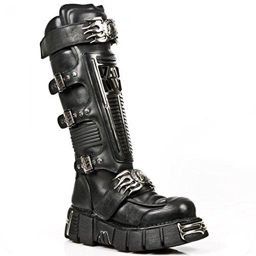 New Rock Boots M.1024-s1 Gotico Hardrock Punk Unisex Stiefel Schwarz