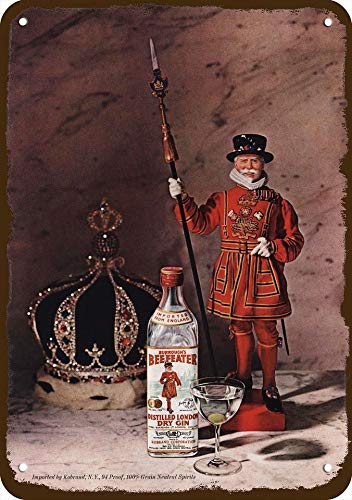 Yilooom 1964 Burrough'S Beefeater London Dry Gin Vintage-Look Replica Metal Sign 7