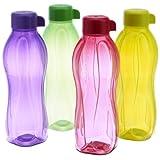 Tupperware Aquasafe Water Bottle Set, 500ml, Set of 4 (B.5L)