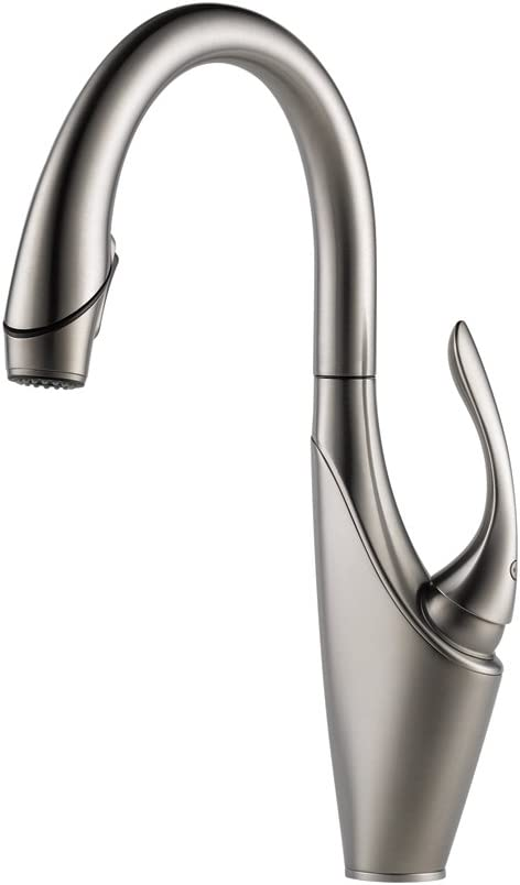 Brizo 63055LF-SS Vuelo Pullout Spray Single Handle Kitchen Faucet, Stainless Steel