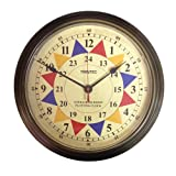 Trintec 12y 24horas reloj Massive 35,6cm latón marco UTC Post Guerra sala de Operaciones Plotting Reloj