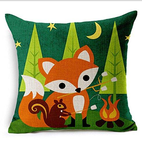 animals Painting Cotton Cushion Decorative