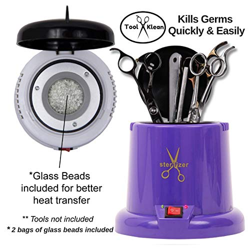 Tool Klean Anti-Microbial Hot Cup Purple, Comes with Glass Beads, 6″ W x 6″ L x 6″ H, Heats 0-212 F in 15 Minutes, Germ Kill in 3 Minutes, has Indicator Light