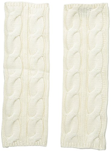Phenix Cashmere Women's Cashmere Cable Hand Warmer, Cream, One ()