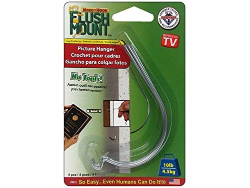 Flush Mount Picture Hanger For Drywall And Sheetrock - As Seen On TV by Monkey Hook