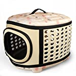 Fashion Airline Approved Portable Folding Pet Carrier Tote Bag for Dogs Cats Rabbit Kennel Travel Outdoor Handbag Pouch by Time4Deal (Brown)