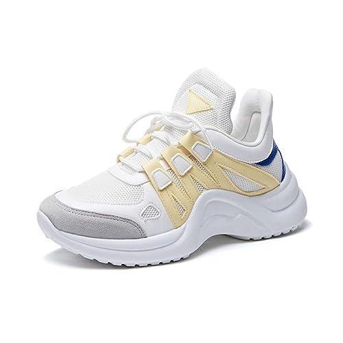 Zapatillas De Deporte De Las Mujeres Zapatos Casuales Tendencias Ins Pisos Blancos Femeninos Plataforma OtoñO Invierno Zapatos De Correr hasta La Rodilla: ...