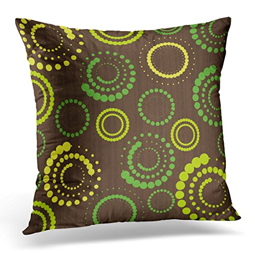 Breezat Throw Pillow Cover Brown 1950S Abstract Green Simple Geometric Decorative Pillow Case Home Decor Square Pillowcase 51ubgqJaEGL