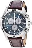 Watches : Citizen Men's Eco-Drive Titanium Quartz Brown Leather Calfskin Strap Casual Watch (Model: BL5551-06L)