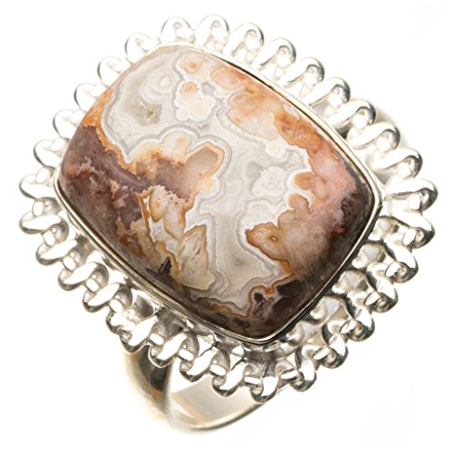 Ocean Jasper 925 Sterling Silver Ring, US Size 9 R2938 (Black Jasper Ring)