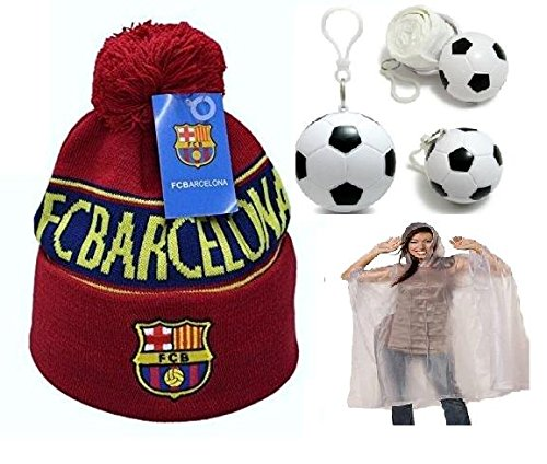 4d64e07500b Soccer Fan Beanie with Soccer Shaped Rain Poncho Ball ✮ All Weather Bundle  ✮ All Clubs