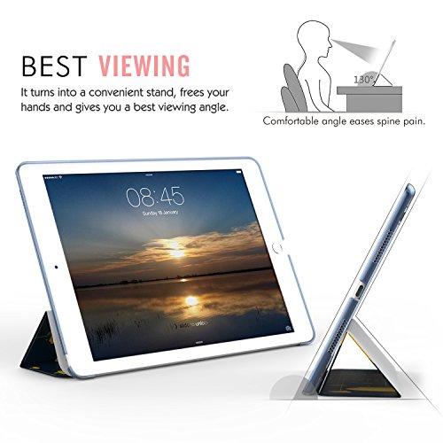 MoKo Funda para iPad Pro 9.7 - Ultra Slim Función de Soporte Protectora Plegable Smart Cover Trasera Transparente Durable (Auto Sueño / Estela) Para Apple iPad Pro 9.7 Pulgadas 2016 Tableta(no apto nu Multicolore, Translucide