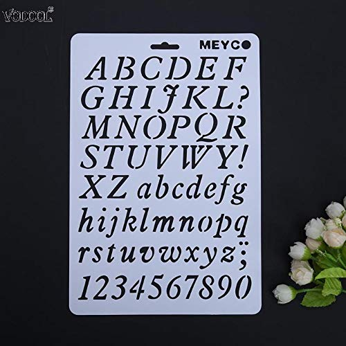 Stencils Hollow DIY Alphabet Number Lettering Stencil Template Letter Stencils Painting Decorative Paper Word Student School Supplies