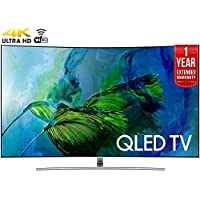 Samsung QN65Q8C Curved 65-Inch 4K Ultra HD Smart QLED TV (2017 Model) + 1 Year Extended Warranty (Certified Refurbished)
