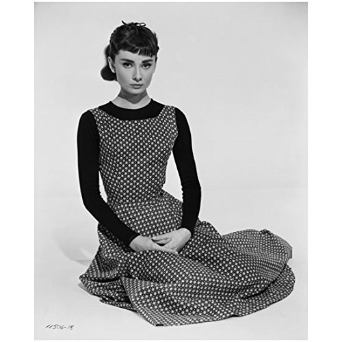 Audrey Hepburn Dress My Fair Lady (Audrey Hepburn 8 x 10 Photo My Fair Lady Funny Face Sabrina Breakfast at Tiffany's B&W Polka Dot Dress Pose 1 kn)