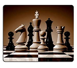 Chess pieces Mouse Pad Customized Made to Order Support Ready 9 7/8 Inch (250mm) X 7 7/8 Inch (200mm) X 1/16 Inch (2mm) High Quality Eco Friendly Cloth with Neoprene Rubber Mouse Pad Desktop Mousepad Laptop Mousepads Comfortable Computer Mouse Mat Cute Gaming Mouse_pad