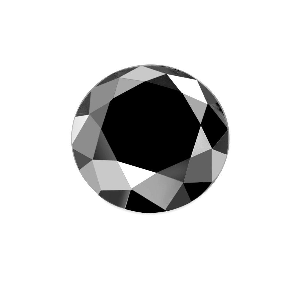 1.00 ct Loose Diamond Black AAA Round Brilliant Natural 6.00 mm