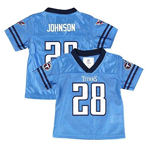Light Blue Nfl Jerseys - Outerstuff Chris Johnson Tennessee Titans NFL Team Home Light Blue Jersey Newborn Infant SZ